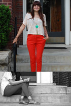 Forever21 pants - Forever21 shirt - Ebay necklace - Aldo sandals