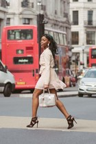 light pink Missguided dress - light pink Lipsy jacket - light pink Furla bag