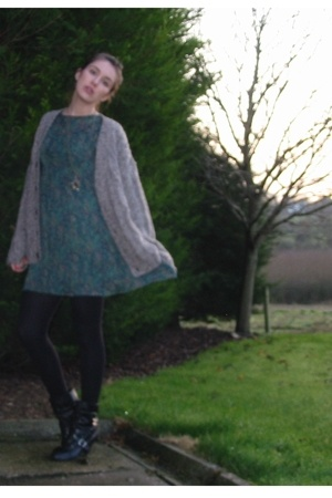 sweater - Primark dress - new look boots