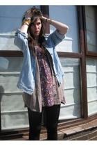 Jorli shirt - Primark blouse - Primark dress - Frye boots - Topshop bracelet