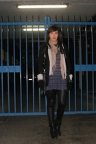 sweater - Primark scarf - blazer - Prada - boots