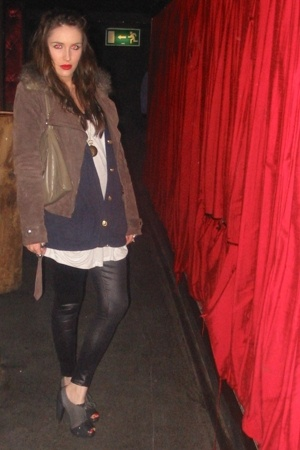 jacket - thrifted - Topshop top - Topshop shoes - Primark