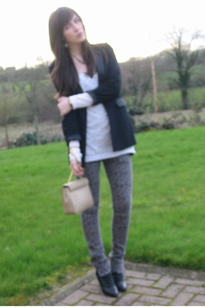 Matalan top - Dorothy Perkins blazer - Sakura jeans - Salt and Pepper boots -  a