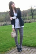 Matalan top - Dorothy Perkins blazer - Sakura jeans - Salt and Pepper boots -  a
