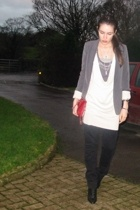 Topshop blazer - Topshop - warehouse vest - Chanel lambskin 255 purse - warehous