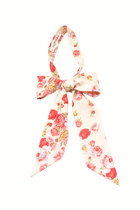 Cream custard pink roses large bow neckerchief