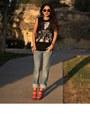 Zara-jeans-beatles-diy-t-shirt-t-shirt-amethyst-bufallo-heels