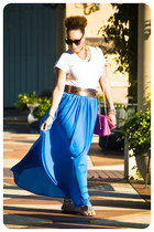 handmade skirt - Urban Expressions purse - Karen Walker sunglasses