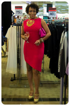 Urban Expressions purse - handmade dress - Steve Madden pumps - BCBG necklace