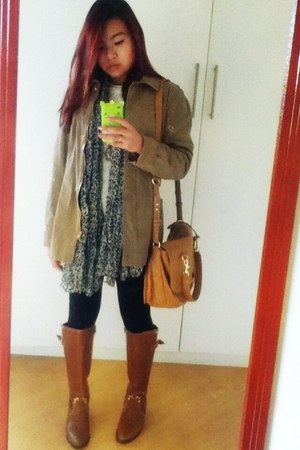 brown H&M necklace - tan Forever 21 coat