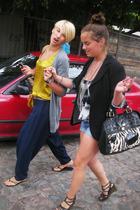 Zara shoes - Levis shorts - blazer - Zara t-shirt - accessories