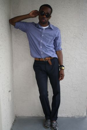 blue Gap shirt - blue H&M pants