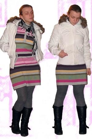 Penneys coat - scarf - H&M Kids dress - H&M - BLANCO