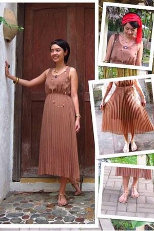 liberte dress - used as turban Bazaar scarf - Gucci bag - Rusty Lopez sandals