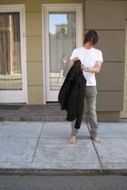 Hanes t-shirt - Levis jeans - Helmut Lang blazer - H&M bracelet