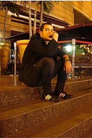 random brand blazer - Diesel jeans - adidas shoes - Pull and Bear t-shirt - casi
