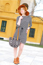 Black-striped-h-m-dress