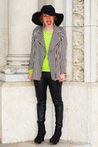 striped Zara jacket - black benetton hat
