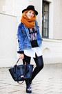Navy-denim-forever-21-jacket-mustard-zara-scarf