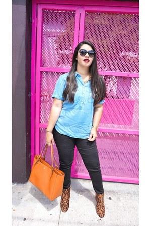 Charlotte Russe boots - denizen jeans - Target top