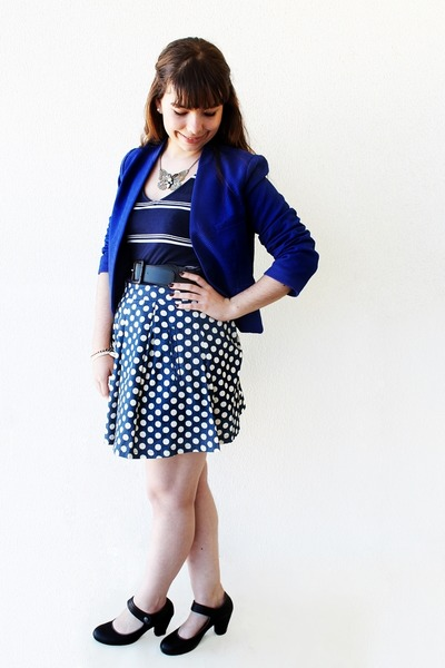 blue Kristines Collection blazer - navy stripes c&a dress