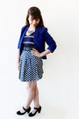 Navy-stripes-c-a-dress-blue-kristines-collection-blazer