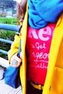 Yellow-h-m-coat-turquoise-blue-circle-scarf-primark-scarf