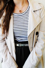 Cream-trench-stradivarius-coat-white-stripes-c-a-shirt-black-romwe-bag
