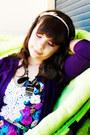 Light-purple-bow-headband-h-m-accessories-deep-purple-lanidor-cardigan