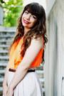 Orange-neon-thecoloris-top-periwinkle-parfois-bag