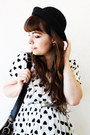 Black-thboxes-hat-white-hearts-shana-dress-black-satchel-romwe-bag