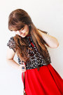 Black-kitty-lovely-wholesale-flats-red-magix-d-dress