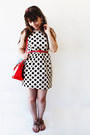 Cream-polka-dots-romwe-dress