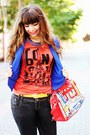 Ruby-red-bonjour-primark-t-shirt-blue-kristines-collection-blazer