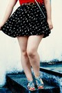 Silver-bow-claires-bag-navy-sparrows-hello-blogshop-skirt