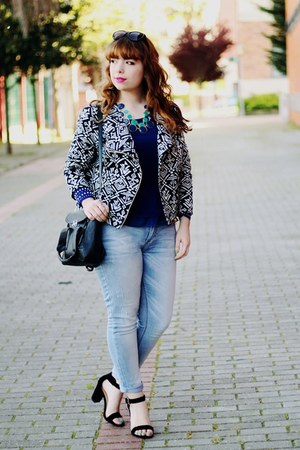 blue Primark blouse - periwinkle Lanidor jeans
