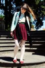 Aquamarine-pied-poule-blazer-white-primark-tights
