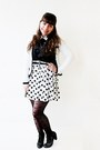 White-hearts-shana-dress-black-bershka-shirt-black-polka-dots-ebay-tights