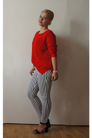 red Zara jumper - Vila pants