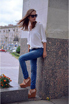white Zara shirt