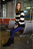 Mango pants - Ugg shoes - striped Mango sweater