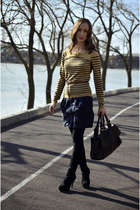 camel reserved sweater - navy Mango skirt
