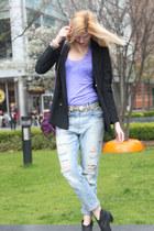 Burberry coat - Oasis boots - Zara jeans - Zara blazer - Zadig & Voltaire bag