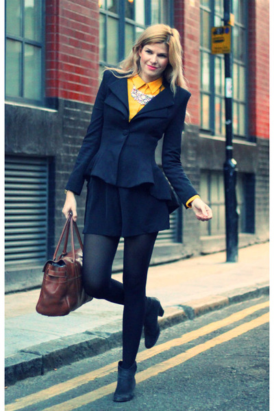 Celeb boutique jacket - Mulberry bag - River Island shorts