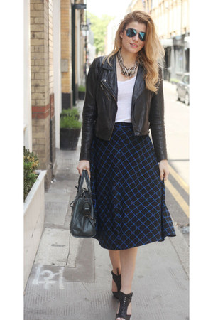 asos skirt - All Saints shoes - Oasis jacket - balenciaga bag