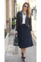 asos skirt - All Saints shoes - Oasis jacket - balenciaga bag