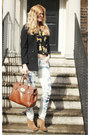 Report-boots-levis-jeans-mulberry-bag-river-island-top