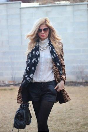 Alexander McQueen scarf - Mango coat - Gap shirt - balenciaga bag
