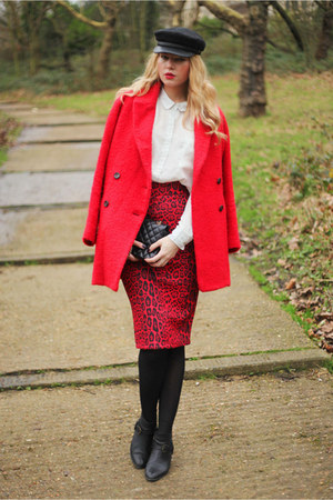 River Island skirt - Mango coat - Chanel bag
