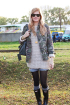 Hunter boots - Topshop jacket - balenciaga bag - Atmosphere jumper